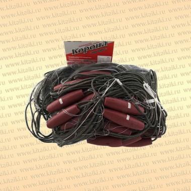 Сеть сплавная Корона-Профи, яч 90 мм, леска 0,25 мм, высота 6 м, длина 50 м