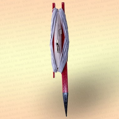 Донная удочка красная с белой резинкой, леска 70 м