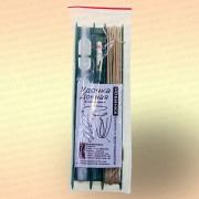 Донная удочка на пластиковом мотовиле с грунтозацепом