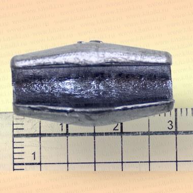 Грузила с разрезом для сетей коническое, упаковка 20 шт., 10 гр. 21 мм, диаметр отверстия 3 мм