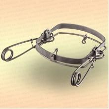 Капкан охотничий металлический симочный, витая пружина Сибирь-М-5