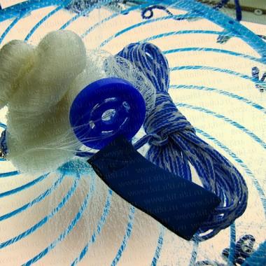 Кастинговая сеть, радиус 1,8 м, ячея 10 мм, леска, с большим пластиковым кольцом