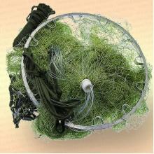 Кастинговая сеть, капрон, ячея 20 мм, с большим алюминиевым кольцом, диаметр 3,0 м, радиус 1,5 м