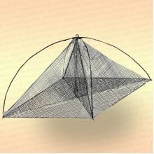 Хапуга рыболовная с косынкой 1,15 х 1,15 м, ячея: сетки -16 мм, косынок - 16 мм