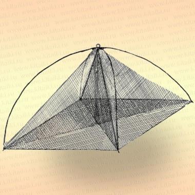 Хапуга рыболовная с косынкой 1,15 х 1,15 м, ячея: сетки -24 мм, косынок - 30 мм