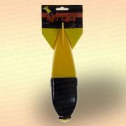 Кормушка для прикормки SPOMB, жёлтая с чёрным, ракета, бомба