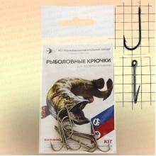 Крючки двугибые овальные, номер 8,5, толщина 1,2 мм, длина 22 мм, уп 10 шт