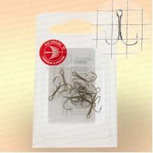 Крючки двойные, никель номер 5, толщина 0,5 мм, длина 10 мм, уп 10 шт