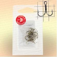Крючки двойные, никель номер 6, толщина 0,7 мм, длина 12 мм, уп 10 шт