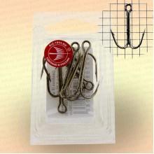 Крючки двойные, никель номер 12, толщина 1,2 мм, длина 27 мм, уп 5 шт