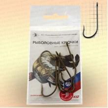 Крючки лососевые одногибые с кольцом, номер 15, толщина 1,6 мм, длина 40 мм, уп 5 шт