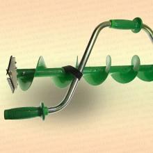 Ледобур для зимней рыбалки металлопластиковый, 130 мм