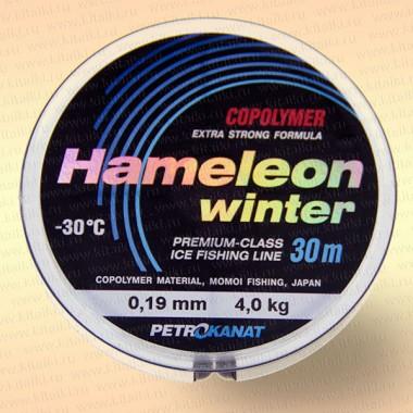 Леска рыболовная зимняя Hameleon Winter, 30 м 0,19 мм тест 4 кг