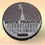 Леска флюорокарбон White Peacock, 0,06 мм, 0,61 кг, 30 м