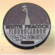 Леска флюорокарбон White Peacock, 0,08 мм, 0,86 кг, 30 м
