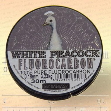 Леска флюорокарбон White Peacock, 0,18 мм, 3,23 кг, 30 м