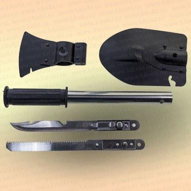 Лопата, нож, топор, пила - набор 4 в 1