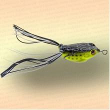 Лягушка незацепляйка приманка на щуку жёлтая с чёрным 40 мм