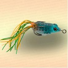Лягушка незацепляйка приманка на щуку синяя с оранжевым 40 мм