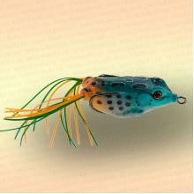 Лягушка незацепляйка приманка на щуку синяя с оранжевым 50 мм