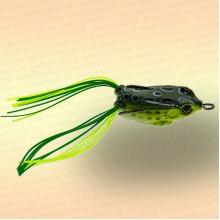 Лягушка незацепляйка приманка на щуку жёлтая с зелёным 40 мм