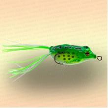 Лягушка незацепляйка приманка на щуку зелёная 40 мм