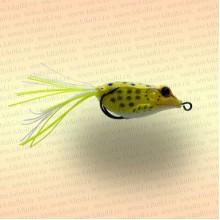 Лягушка незацепляйка приманка на щуку жёлтая 40 мм