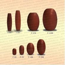 Поплавки для сетей из ПВХ F-1100, 170х115 мм, мешок, 35 шт