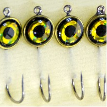 Мормышка металлическая, паяная № 29-ПЛ, крючок 8, черно-желтая