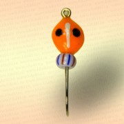 Мормышка фосфорная Жук, оранжевая