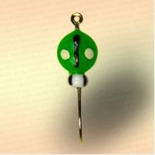 Мормышка фосфорная Жук, зеленая