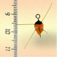 Мормышка для рыбалки фосфорная № 26, оранжевая