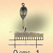 Мормышка металлическая, паяная № 29-Л, серебряная