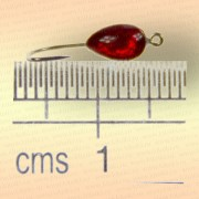 Мормышка металлическая, паяная № 29-Л, красная