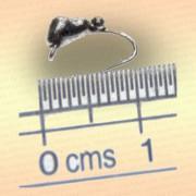 Мормышка вольфрам Муравей, 3,0 мм серебряная