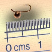 Мормышка вольфрам Шар с ушком, диаметр 2,5 мм, медный