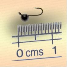 Мормышка вольфрам Шар с ушком, диаметр 2,5 мм, черный