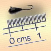 Мормышка вольфрам Капля, 2,5 мм черная