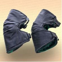 Кожаные наколенники для зимней рыбалки на меху.