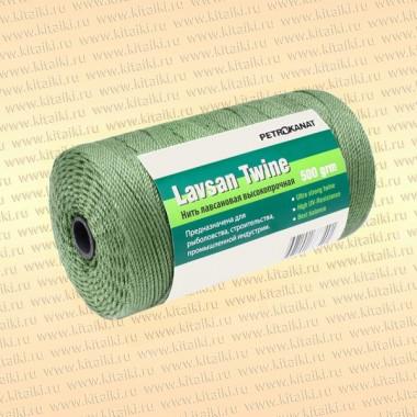 Лавсановая нить темно-зеленая, 2,0 мм, 20s/45 тест 60 кг, 100 гр