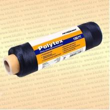 Нитки Polytex 210 den/24. 1,2 мм, 100 гр, чёрная