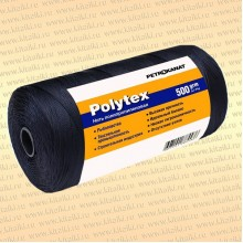 Нитки Polytex 210 den/24, 0,70 мм, 500 гр, чёрная
