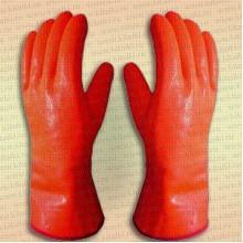 Перчатки утелпенные ПВХ Аляска 9012, крага, оранжевые, размер XXXL