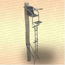 Лабаз с лестницей, приставной к дереву, высота 5,8 м, вес 22 кг
