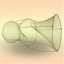 Верша D=530 мм L=100 см, два входа кольца