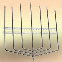 Инструмент для очистки водоема 2D зуб - 6 мм, 7 зубьев