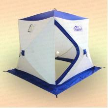 Палатка зимняя куб Следопыт-Эконом 1,8х1,8х1,8 м, 2-местная, утепленная, бело-синяя