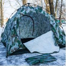 Палатка зимняя Зонт, утепленная, 2,1 х 2,1 м, сплошное дно