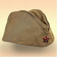Пилотка солдатская со звездой, времен ВОВ, размер 54