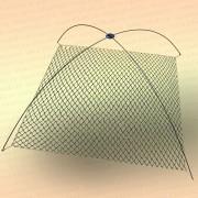 Подъемник для рыбалки 1,5 м цельные дуги 6 мм, без сетки, с крестовиной